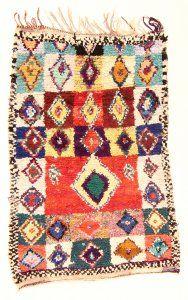 Marokkaanse Berber tapijt Boucherouite 190 x 120 cm