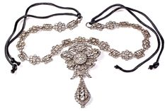 18th Century Portuguese Paste Pendeloque Necklace | From a unique collection of vintage drop necklaces at http://www.1stdibs.com/jewelry/necklaces/drop-necklaces/