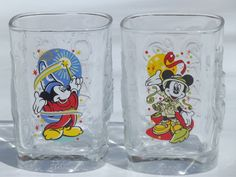 Vintage mickey mouse collectible  | Disney Mickey Mouse collectible McDonald's glasses from 2000, set of 4