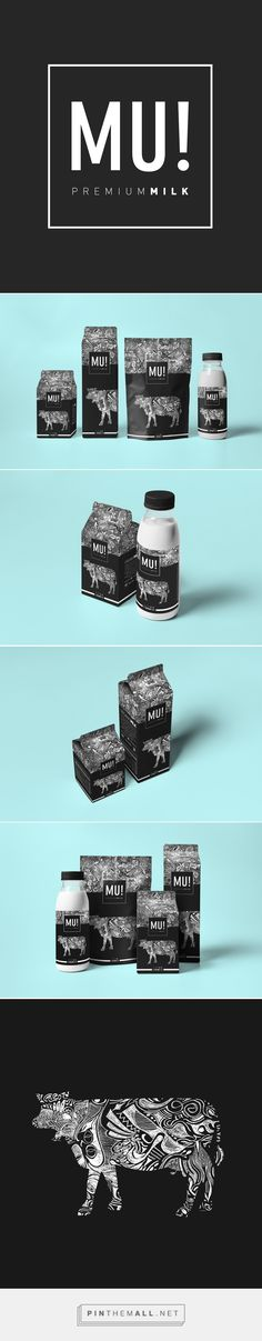 Mu! Premium Milk Packaging by Martin Merino Ronda | Fivestar Branding Agency – Design and Branding Agency & Curated Inspiration Gallery  #milk #milkpackaging #packaging #package #packagedesign #packaginginspiration #design #designinspiration