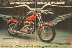 1977 Harley-Davidson Sportster – What other motorcycle looks like 60 mph parked?