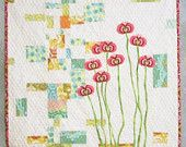 Urban Spring Quilted Wall Hanging
