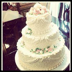 Victorian 3 tier wedding cake