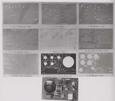 Successive stages in the construction of a circuit board, 1947. IET Archives NAEST 211/02/13/03 D.6581