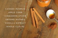 Fall Simmering Stovetop Potpourri Gallon apple cider 1 cup canned pumpkin 3 cinnamon sticks 1 tbsp ground nutmeg 1 tbsp vanilla extract 1 tbsp whole cloves (simmer on stove) Fall Potpourri, Homemade Potpourri, Simmering Potpourri, Stove Top Potpourri, Potpourri Recipes, House Smell Good, House Smells, Fall Scents, Home Scents