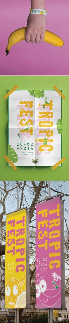Campaign by Annie Luo, Shillington Graduate. More student work --> https://www.shillingtoneducation.com/student-showcase/ #shillington #shillomel #shillingtoneducation #graphicdesign #campaign #tropic #banana