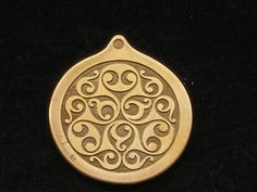Handmade Celtic La Tene Pendant Etched in Brass by ValhallasAnvil, $30.00