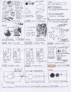 Art Handout... Take time to discuss and model techniques with students, great resource