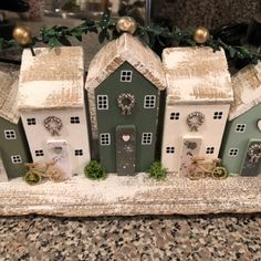 Coastal Street Driftwood Houses Coastal Art Home Decor Christmas Crafts, Christmas Decorations, Xmas, Simple Christmas, Christmas Ornaments, Driftwood Crafts, Coastal Art, Wooden Gifts, New Home Gifts