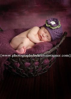 15% Off Sale See Below Newborn Baby  Girl  Purple  Hat  and Diaper Cover Set  Photo Prop Set Item 129. $29.00, via Etsy.