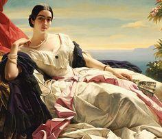 Portrait de Leonilla, Princesse de Sayn-Wittgenstein-Sayn (Détail) Franz Xaver Winterhalter . 1843
