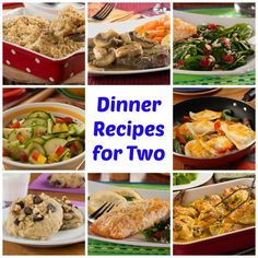 two weeks of easy dinner recipes for two dinner ideas meals and