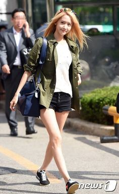 150710 SNSD YOONA arrival at KBS Building #PARTY