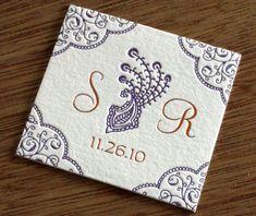 Indian Letterpress Wedding Invitation Designs Hindu-Inspired Wedding Cards for Modern Brides Peacock Wedding Invitations, Letterpress Wedding Invitations, Wedding Invitation Design, Wedding Designs, Wedding Ideas, Wedding Favors, Invitation Cards, Invitation Ideas, Invites