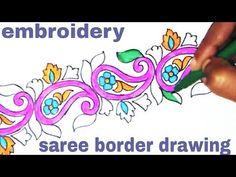 77 Best Saree Border Pencil Sketch Images In 2019 Saree Border