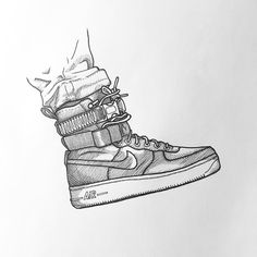 Cross hatching by MXDVS - NIKE SFAF-1