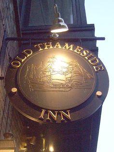 The Old Thameside Inn - Pub Sign  Pickfords Wharf, Clink St, London, SE1