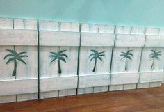 Shutters For Headboard Starfish Sailboat Beach House Wall Decor via Etsy
