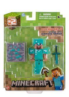 Brand New Minecraft Diamond Steve Action Figure Toy Game Hot #Minecraft