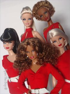 Barbie Basics Dolls, Collection Red (Target  Exclusive) 2011