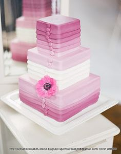 Ombre Layered Wedding Cake
