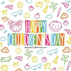Happy Children's Day Colorful Wishes Picture
