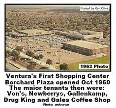 The Borchard Plaza in 1962. Winchell's Donuts. Right off of Porter Lane. The Newburrys had a soda fountain bar inside on the left. The ham salad sandwich was the ultimate when I was a kid. My mom could shop while watching me sit at the bar from anywhere in the store.