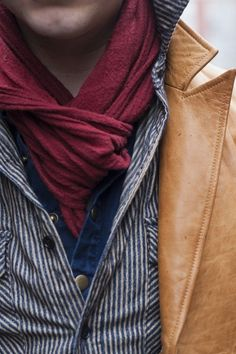 Scarf provides a necessary pop of color to an outfit, #vibrance