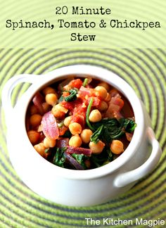 ... have this healthy Spinach, Tomato & Chickpea Stew from @kitchenmagpie
