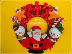 Guirlanda Natal toda em feltro, e feita a mão!!!