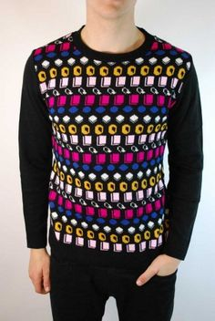 Men's Liquorice Allsorts retro novelty Christmas jumper
