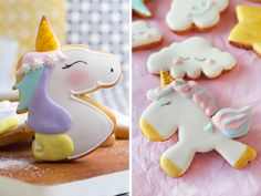Unicornios: Ideas para el pastel de baby shower o cumpleaños - Blog de BabyCenter Unicorn Birthday, Birthday Cake, Baby Center, Diaper Cakes, Cookies, Unicorns, Desserts, Food, Image