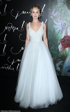 Snow white: Jennifer Lawrence couldn't have looked more innocent when she stepped out for the premiere of Mother! in New York City on Wednesday