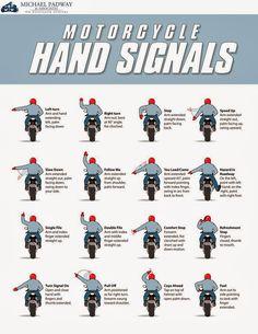 AZTOON WHEELS: Motorcycle Hand Signals