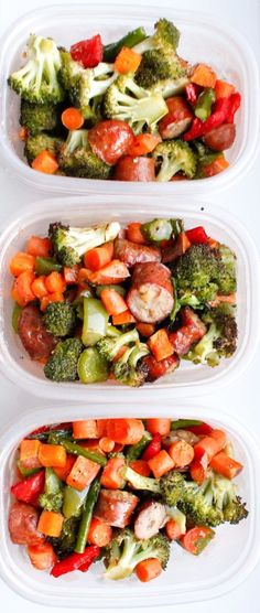 One Pan Sausage and Vegetables Meal Prep - Smile Sandwich
