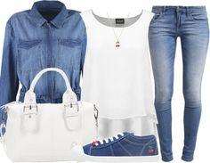Un look de rentrée total jeans ! Shoppez le ici: http://stylefru.it/s630652 #rentrée #tenue #mode