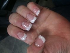 Classic Gel!! Fake Gel Nails, French Tip Acrylic Nails, French Manicure Nails, Pink Acrylic Nails, Aycrlic Nails, Prom Nails, Gel Nails French Tip, Cute Nails, Pretty Nails