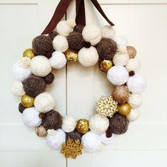Wianek świąteczny - Candy_Home - Dekoracje bożonarodzeniowe