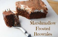 If you want to play a prank on friends and family members who are on a diet and who are coming over to your place for dinner, serve them these brownies with marshmallow frosting for dessert. There will probably some bloody murder involved in the aftermath, but no one will doubt these brownies are good.