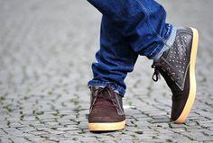 men shoes handmade brown  #Marapulai leather #sneakers US 9 / 10 men stars