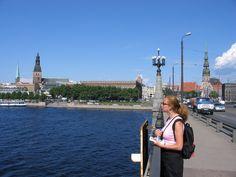 View over the Daugava river - by TravEllenineurope.com