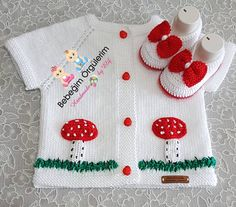 This Pin was discovered by Sab Baby Knitting Patterns, Baby Sweater Patterns, Baby Girl Patterns, Knit Baby Sweaters, Knitting For Kids, Crochet For Kids, Crochet Baby, Baby Vest, Baby Cardigan