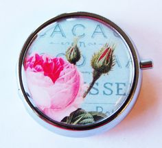 Case Flower Pill Box Pill Case Pill Container by KellysMagnets, $11.00