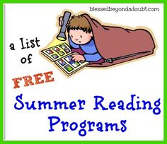 A list of FREE summer reading programs!  Check them out!