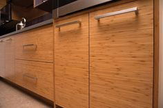 Is Contemporary Your Style? Dura Supreme horizontal grain bamboo cabinets in a contemporary styled kitchen design.