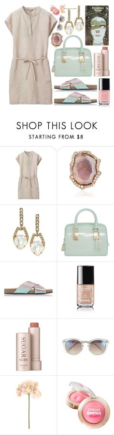 """Solo Date: Bookstore, Bakery & Thrifting"" by thewovenwolf ❤ liked on Polyvore featuring Uniqlo, Kimberly McDonald, Alexis Bittar, Furla, Loeffler Randall, Chanel, Fresh, Vince Camuto, Sia and Maybelline"