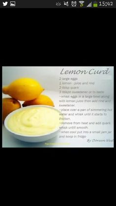 Slimming world free lemon  curd