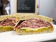 A Sandwich a Day: Pastrami with Apricot & Celery Chutney at Dickson's. #chelsea #nyc