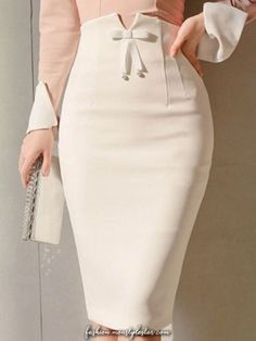 Bodycon Bowknot Zipper High Waist Women's Skirts - moda Girl Fashion, Fashion Dresses, Womens Fashion, Fashion Tips, Stylish Dresses, Fashion Brands, Style Fashion, Fashion Jewelry, Fashion Websites