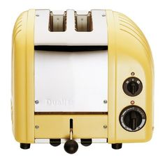 Dualit 2-Slice Toaster, Canary Yellow - http://teacoffeestore.com/dualit-2-slice-toaster-canary-yellow/